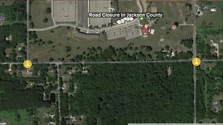 Road closure in Jackson County