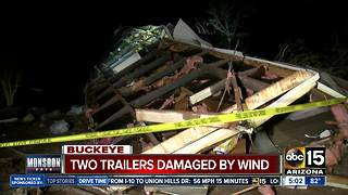 Buckeye residents deal with major damage after monsoon storms - Video