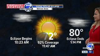Eclipse Forecast Denver, Colorado - Video