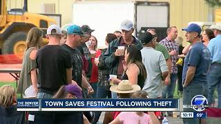 Community raises money to pay for annual Ault Fall Festival after crook steals funds - Video