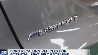 Ford recalling cars over seat belt concerns - Video