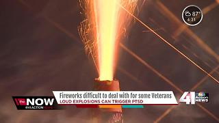 Independence Day fireworks can ignite painful memories for veterans - Video