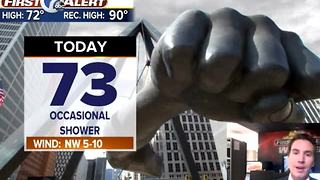 Metro Detroit Forecast: A few more showers today; getting warmer - Video