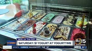 Saturday only: Enjoy frozen yogurt and gelato for just $1! - Video