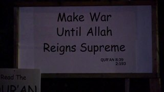 'Make war until Allah reigns supreme' sign discovered in Brookfield - Video