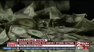 Where to donate for Harvey storm victims, avoid scammers