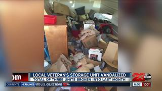 Veteran's Storage Unit Vandalized - Video