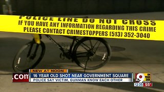 Teen shot at Government Square