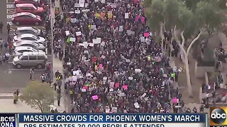 20,000 people take to streets of Phoenix for women's march - Video