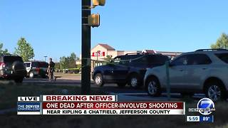 Man dead after deputy-involved shooting near Chatfield Reservoir in Jefferson County - Video