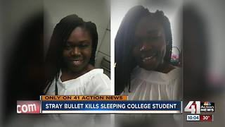 Sleeping woman shot, killed by stray bullet - Video