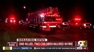 One killed, two children injured in apartment fire - Video