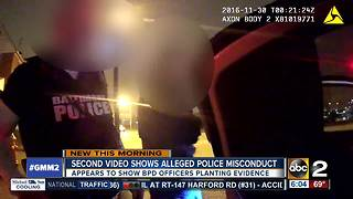 Second video shows alleged police misconduct