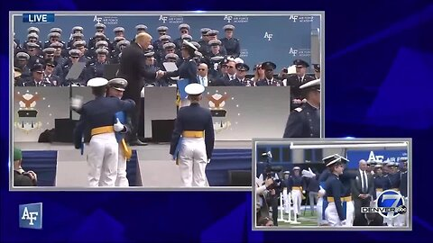 President Trump shakes the hand of every cadet graduating from the Air Force Academy