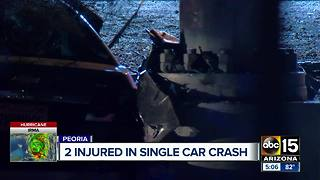 Two injured in Peoria crash overnight