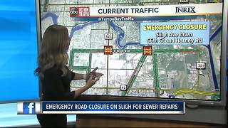 Emergency road closure on Sligh Ave. - Video