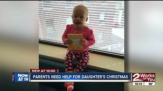 Skiatook family asking for help bringing sick daughter home for Christmas - Video