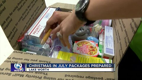 Christmas in July packages for soldiers prepared in Lake Worth