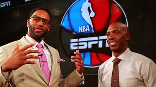 Tracy McGrady visits ESPN studios for NBA Countdown
