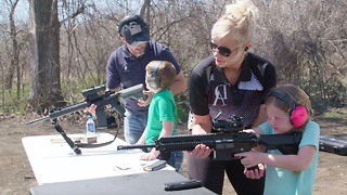 Concealed Carry Mom Training Her 7 Kids To Shoot - Video