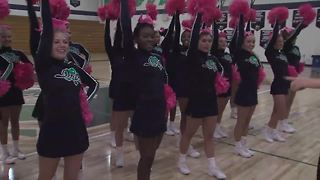Friday Football Frenzy: Cathedral High School cheerleaders and students ready for game against Center Grove - Video