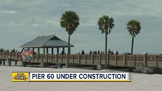 Pier 60 in Clearwater Beach partially closes to repair the bait shop and pavilions - Video