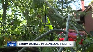 Cleanup continues after Cleveland Heights microburst