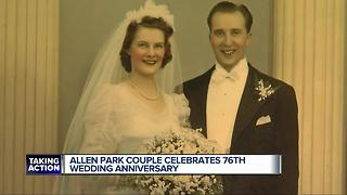 Allen Park couple celebrates their 76th wedding anniversary - Video