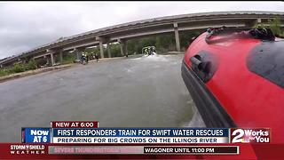 First reponders train for swift water rescues - Video