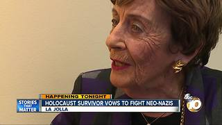 Holocaust survivor vows to fight neo-Nazis - Video