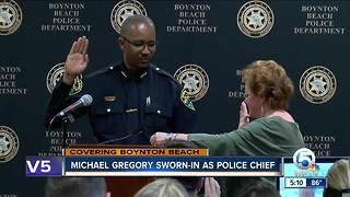 Boynton Beach police swear in new chief - Video