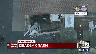 Driver dies after crashing into business near 16th Street and Colter