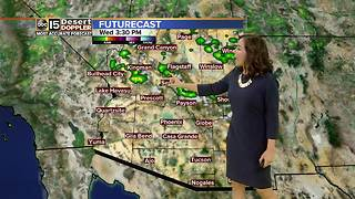 Slight chance of rain around the Valley - Video