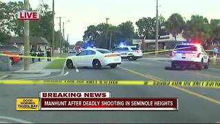 Manhunt underway in Seminole Heights after deadly shooting early Tuesday - Video