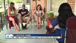 Jeep theft strands family with special needs - Video