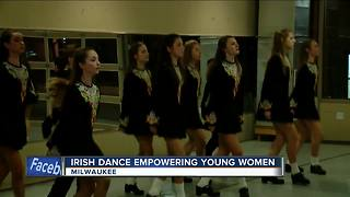 Trinity irish dancers get excited for St. Patrick's Day - Video