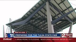 Staff prepares for Tulsa State Fair - Video