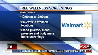 Walmart offers free health screenings on Saturday - Video