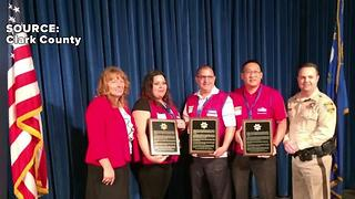 Lowe's employees honored for helping after deadly crash involving school bus in Las Vegas - Video
