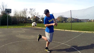 He's got skill! Watch man's incredible trick shots and amazing football skills