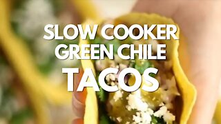 Slow Cooker Green Chile Tacos - Recipe