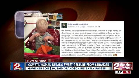 Coweta woman details sweet gesture from stranger