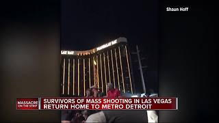 Metro Detroiters arrive home safe after escaping Las Vegas mass shooting - Video