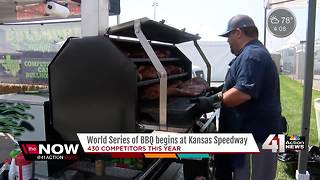 Houston barbecue team escapes devastation for American Royal - Video
