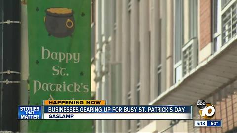 Businesses gearing up . for St. Patrick's Day