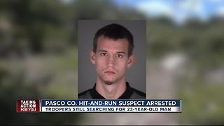 Driver arrested, 1 wanted in Pasco hit & run - Video