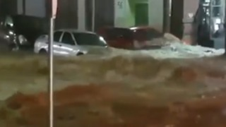 Flash Floods Sweep Away Cars Outside Hobart Hospital