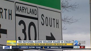 Maryland National Guard Soldier dies after crash in Reisterstown