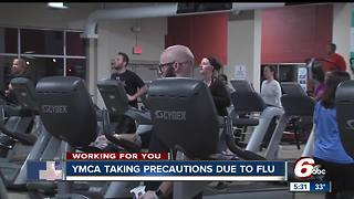 YMCA taking extra precautions to keep the flu away - Video