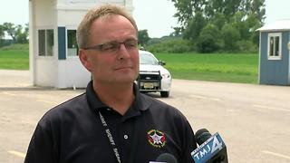 Kenosha Sheriff describes shooting at Great Lakes Dragaway - Video